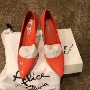 Coral Alice + Olivia pumps
